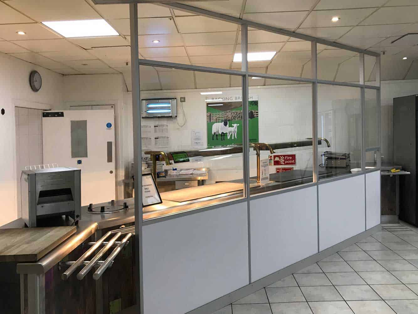 Food Serving Area Covid Secure Screens