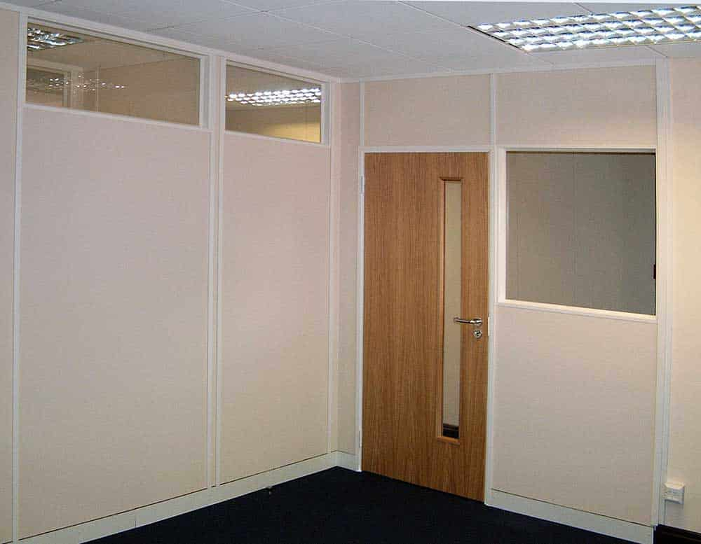 Solid partitioning with top level and centre glazed elevations