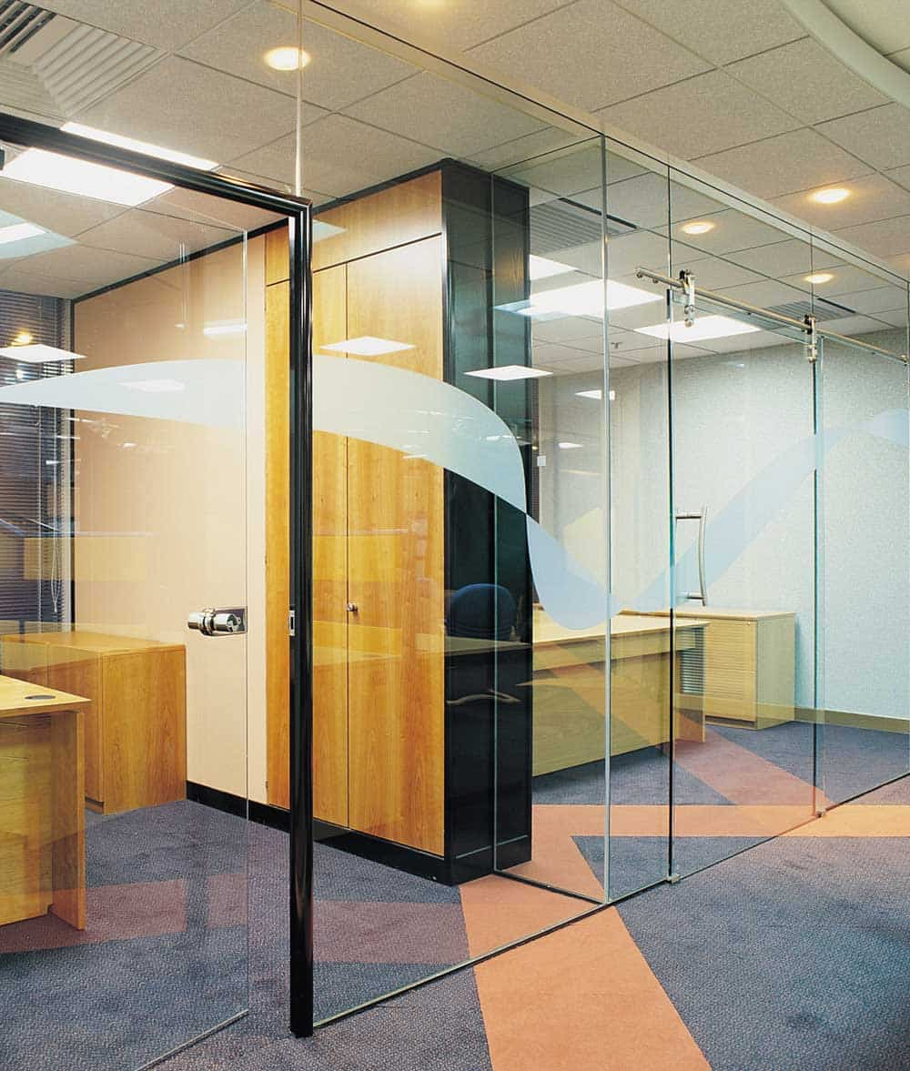 Frameless Glazed Office Partitions