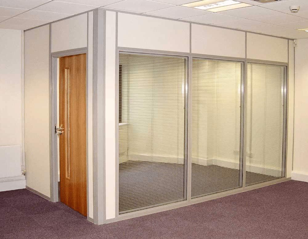 Door head height glazed corner office