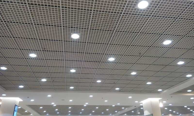 Suspended Ceiling - Grid with Lights